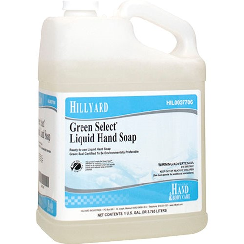 Hillyard, Green Select Liquid Hand Soap, HIL0037706, sold as 1 gallon, 4 gal per case