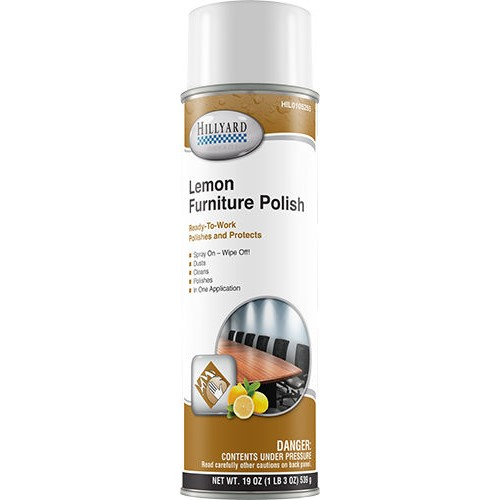 Hillyard, Lemon Furniture Polish, ready to use 19 oz aerosol can, HIL0105255, sold as 1 can, 12 cans per case