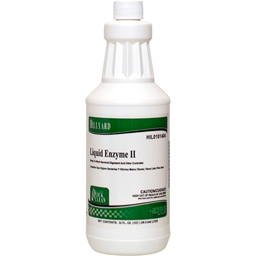 Hillyard, Liquid Enzyme Cleaner II, Ready To Use Quart, HIL0101404, sold as 1 quart, 12 quarts per case