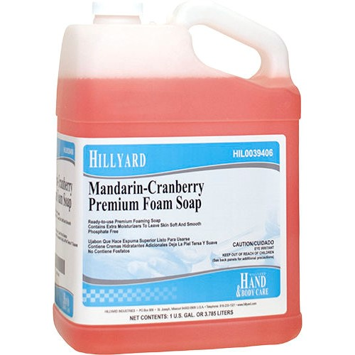 Hillyard, Premium Mandarin-Cranberry Foam Soap, HIL0039406, Sold as 1 gallon, 4 gallons per case