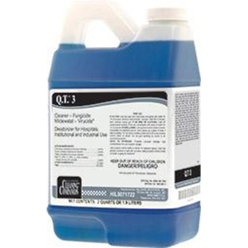 Hillyard, Q.T. 3, Dulition Concentrate for C2, C3, HIL0071722, 6 half gallons per case, sold as 1 half gallon