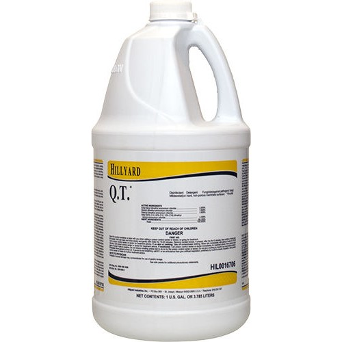 Hillyard, Q.T. Disinfectant Cleaner, concentrated gallon, HIL0016706, 4 gallons per case, sold as 1 gallon