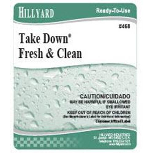 Hillyard, Secondary Label for 468 Take Down, Fresh & Clean, HIL31468, sold as each