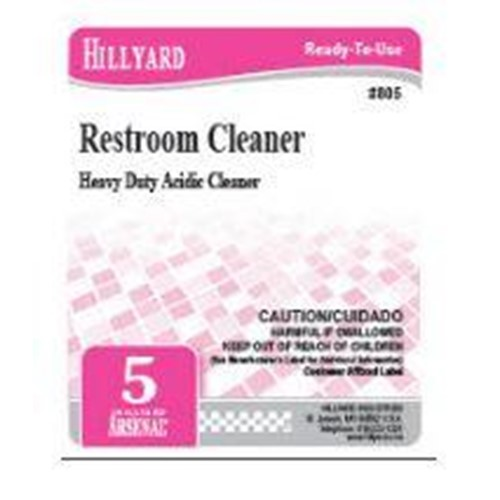 Hillyard, Secondary Label for 805 Arsenal Restroom Cleaner, HIL31624, sold as each