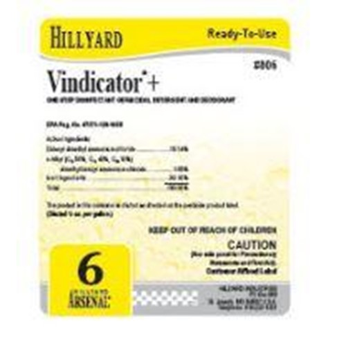 Hillyard, Secondary Label for 806 Arsenal Vindicator Plus, HIL31625, sold as each