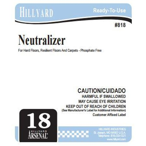 Hillyard, Secondary Label for 818 Arsenal Neutralizer Carpet Rinse, HIL31612, sold as each