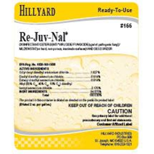 Hillyard, Secondary Label for Re-Juv-Nal, HIL31166, sold as each
