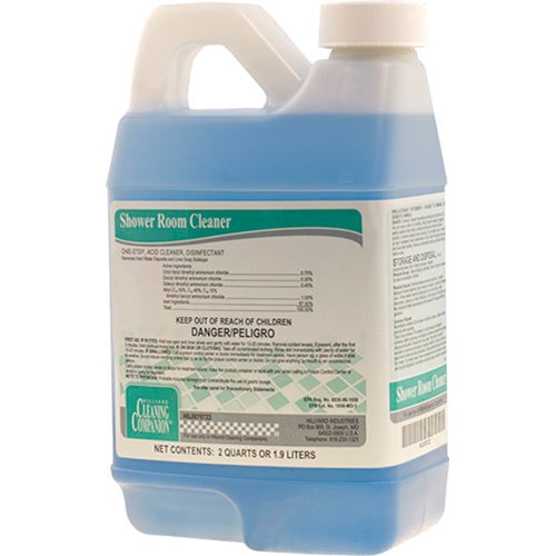 Hillyard, Shower Room Cleaner, dilution control concentrate for C3, C2, HIL0070722, sold as 1 half gallon, 6 half gallons per ca