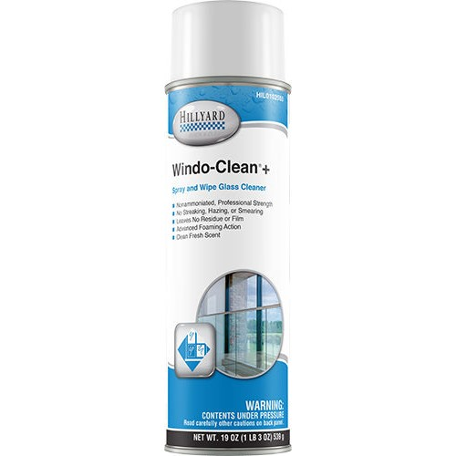 Hillyard Windo Clean Plus, Ready to Use Aerosol, 19 oz can, HIL0102555, sold as 1 each, 12 cans per case