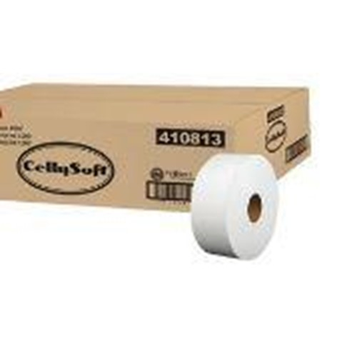 Sofidel, Cellysoft Jumbo Roll Toilet Paper, Recycled, 2 ply, White, 3.5 x 1000 ft, 410813, 12 rolls per case, sold as case