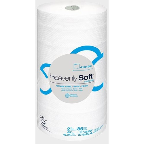 Papernet, Heavenly Soft Kitchen Roll Towel, White, 11 x 8.8, 85 sheets per roll, 410132, 30 rolls per case, sold per case