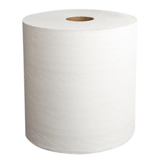 Papernet, PRO Confidence, Premium Hardwound Roll Towel TAD, White, 600 ft  7.6 in, 410126, 6 rolls per case, sold per case