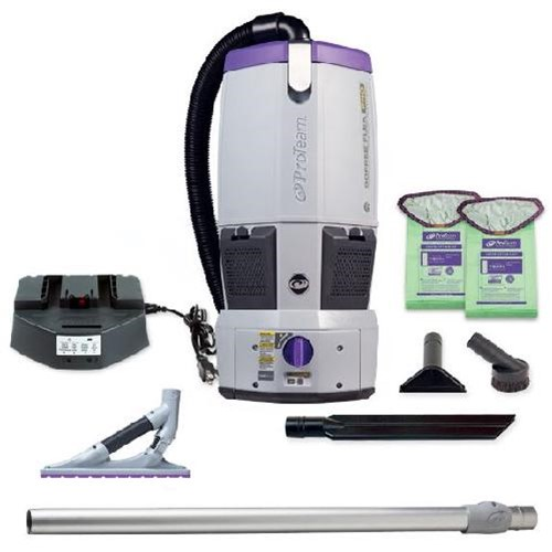 Proteam, GoFree Flex Pro, Cordless Backpack Vacuum, w/ ProBlade Carpet Tool Kit, 6qt, 12AH, 107539, sold as each.