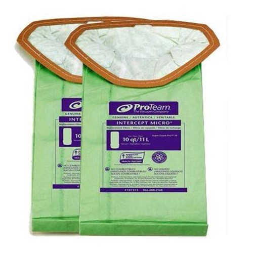 Proteam Vacuum Bags Intercept Microfilter Fits Super Coach Pro 10 Filters Per Pack 107313 Sold As 1
