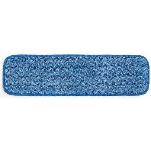 Rubbermaid, Microfiber Wet Room Pad, 18 inch, Blue, RUBQ410BL, 086876170016, 12 per case, sold as each
