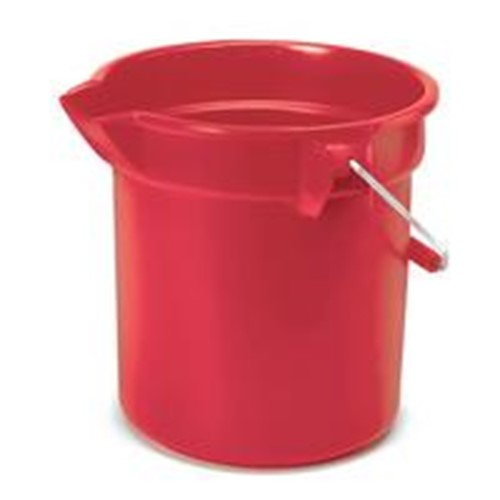 Rubbermaid, Red Bucket, 10 qt, Heavy-duty thick wall construction, FG296300RED, sold as each