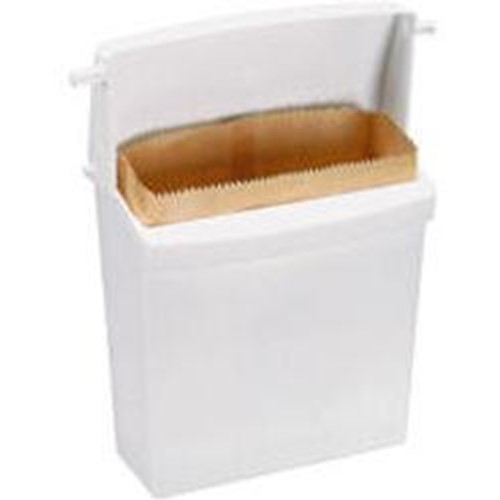 Rubbermaid, Sanitary Napkin Receptacle, white, RUB6140WH, sold as 1 can