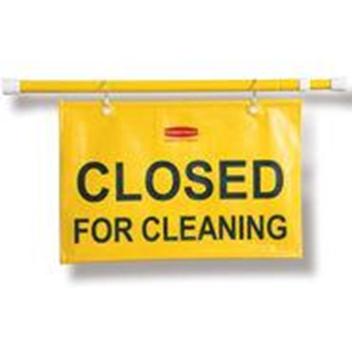 Rubbermaid, Site Safety Hanging Sign with Closed for Cleaning Imprint In English, 9S15, 6 per case, sold as 1 each