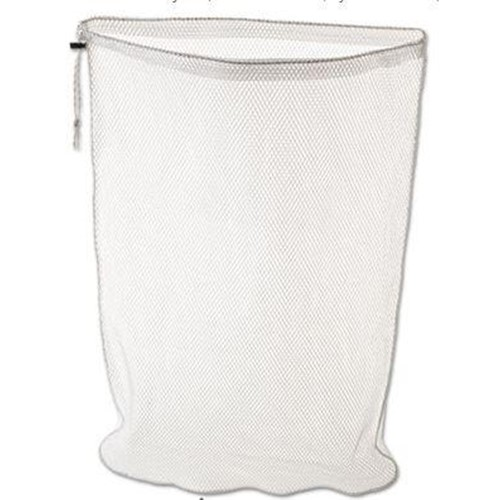 Rubbermaid, Synthetic Mesh Bag with Locking Closure, White,  RUBU210WH, sold as each