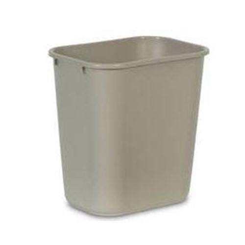 Rubbermaid, Waste Container, 28 quart rectangle, beige, RUB2956BG, sold as 1 can