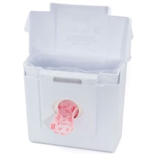 Scensible Source Combination Dispenser and Receptacle, Classic White, 11 inches x 8 inches x 4 inches, CDW, sold as 1 unit