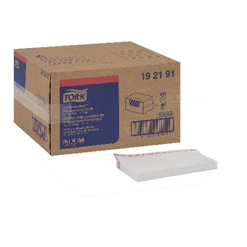 "Tork, Wipers, Antimicrobial Foodservice 1/4 Fold Cloth, 1 ply, White, 150 shts/rl, 13"" x 24"" , , 192191, sold per case"