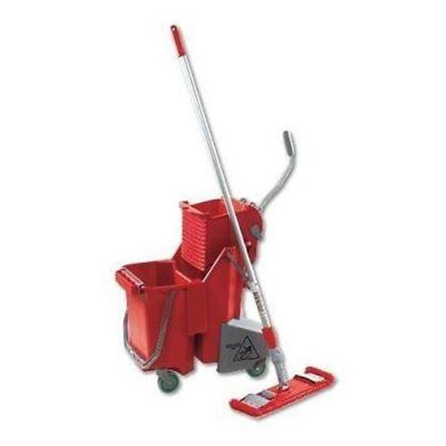 Unger, SmartMop Floor Pack, includes Bucket and Press, Handle with Mop Holder and MicroMop, Red, UNGSMFPR, sold as each