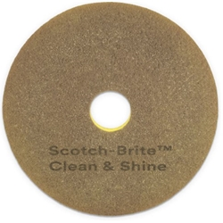 3M, Clean and Shine Pad, 20 inch, Yellow