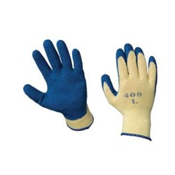Ammex Glove, Latex Dipped Poly Cotton Knit, Work Glove, Extra Large, K2000XLP, 12 Pairs per bag, sold as 1 pair, 12 Bags per Cas