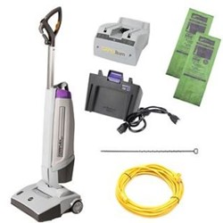 ProTeam, FreeFlex 12 inch Upright Vacuum, Battery/Corded, Lithium Ion Battery, 107499, sold as 1 each